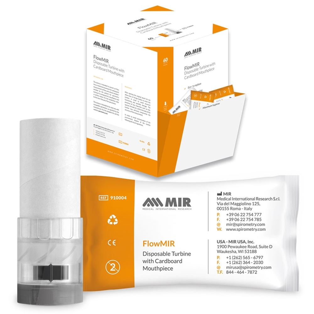 MIR FlowMir Disposable Turbine and Mouthpiece.
